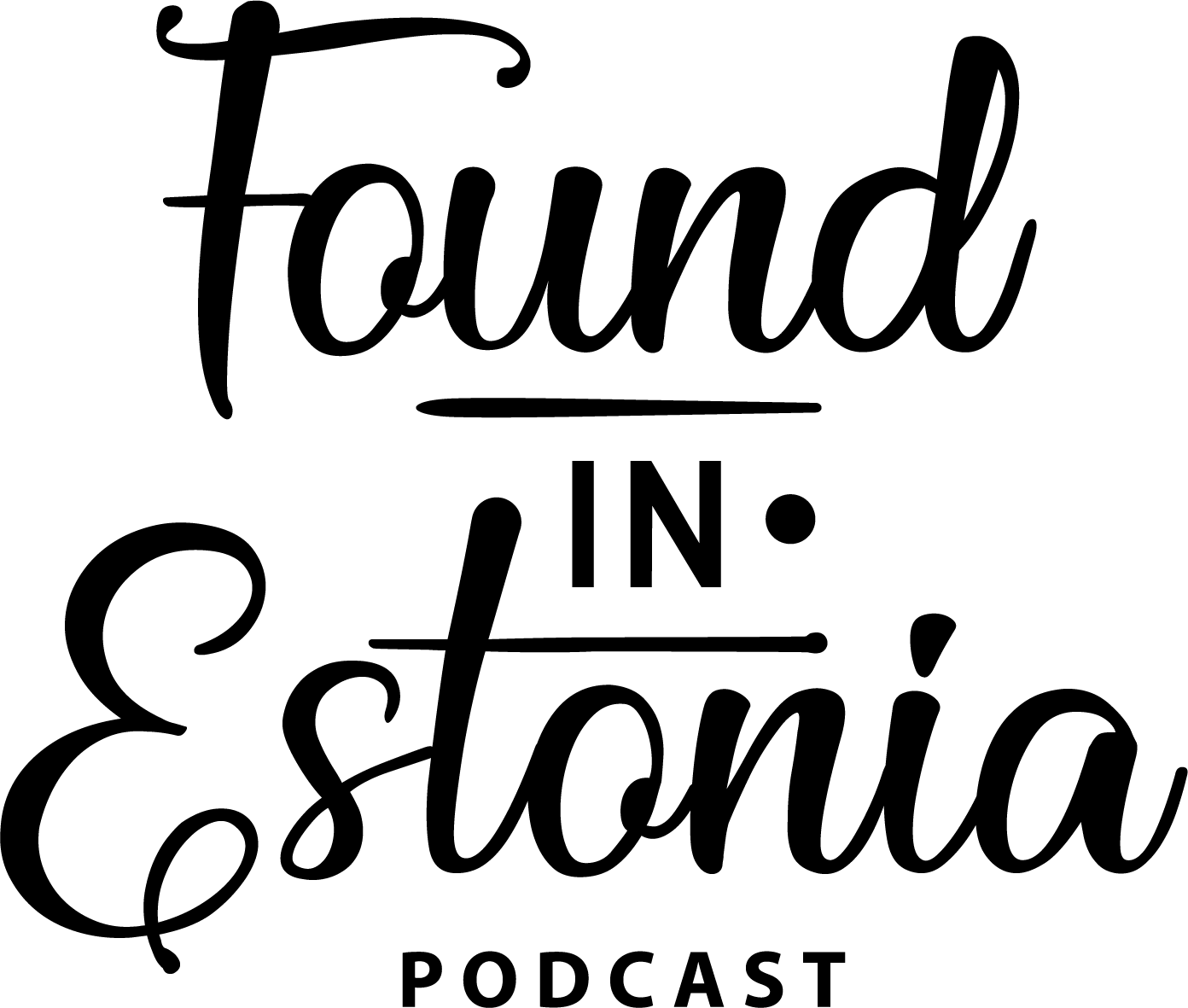 Podcast logo Found in Estonia