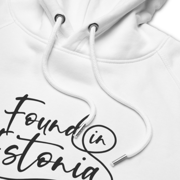 Found in Estonia podcast white hoodie
